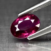 Rare! 0.69ct 6.5x4.5mm Oval Natural Unheated Untreated Rich Red Ruby, Mozambique