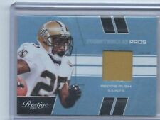 2011 Panini Prestige Football Card Jersey Patch Reggie Bush New Orleans #17/50