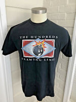 The Hundreds Mens Drawing Line Graphic T-Shirt SS Adam Bomb Black Tee Large L