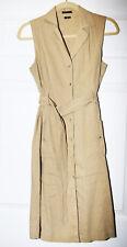 THEORY Women's NUDE LINEN VISCOSE Belted Button up Shirt DRESS *Sz 4* $399