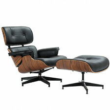 Merveilleux Eames Style Plywood Lounge Chair U0026 Ottoman 100 Genuine Leather Black  Rosewood