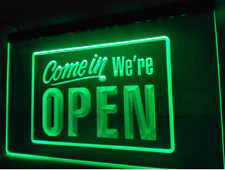 Come In We're Open We Are Store Pub Beer Shop Led Light Sign Neon Restaurant