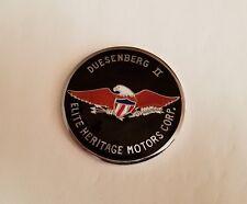 Duesenberg II Wheel Emblem.. Black (Rare) .. Cloisonne.. N.O.S.