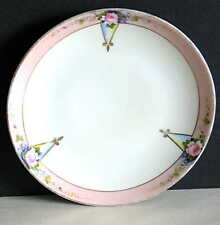 "Vintage Hand Painted Dessert Plate Noritake M in a wreath 6.25"" roses FREE SH"