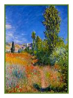 Ile Saint Martin Landscape Impressionist Monet Counted Cross Stitch Pattern