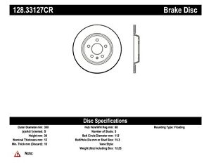 StopTech For Audi A4 /A5 /A6 /A7 /Q5 /allroad Disc Brake Rotor Right 128.33127CR