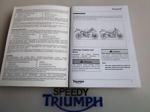 TRIUMPH DAYTONA 675 /  R STREET TRIPLE /  R OWNER  HANDBOOK BOOK 2013 - 2017