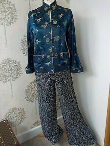 Blue Oriental Authentic Kimono Jacket Japanese Harajuku fashion bohemia uk 12