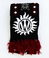 Supernatural Winchester Brothers Fair Isle Knit Fringe Scarf