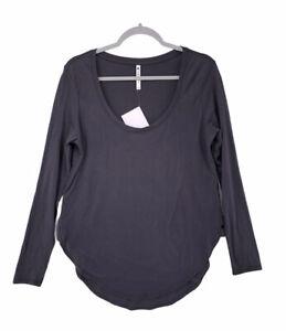 Fabletics Grey Teresa Long Sleeve Tunic Shirt Women's Size Large
