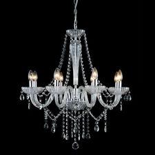Large 8 Light SPLENDOR Chandelier Elegant and Luxurious Chrome & Glass Crystals