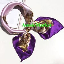 1 x ladies girls womens scarf shawl wrap silk satin fashion scarves 50cm purple