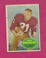 1960 TOPPS # 124 REDSKINS DON BOSSELER  EX-MT CARD (INV# A4133)