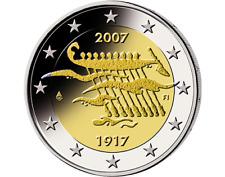 2 Euro Gedenkmünze Finnland 2007  90 Jahre Unabhängigkeit unzirkuliert In Kapsel