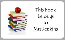 21 THIS BOOK BELONGS TO STICKERS FUN SCHOOL LABELS BOOK PLATE PERSONALISED PIC A