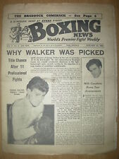 VINTAGE BOXING NEWS MAGAZINE JANUARY 21st 1953 GEORGE WALKER HAS TITLE CHANCE
