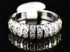 14K New Ladies White Gold Round Cut Diamond Wedding Band Fashion Ring 3/4 Ct