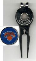 "New York Knicks 1"" Golf Ball Marker MLB Divot tool w/clip ~ NBA Licensed"