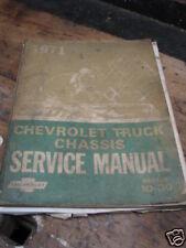 1971 CHEVEROLET VAN/SPORTVAN  SERVICE MANUAL