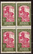 A.E.F Rep.Frse 1 blocco 4 francobolli nuovi N°YT131 de 1933 Africana 173T2