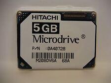 "LOT OF 2 Hitachi 0A40728 5GB ZIF PATA 1"" MICRODRIVE HMS361006M5CE00 Hard Drive"