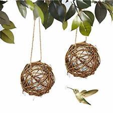 New listing Duvinin 2 Pcs Globe Hummingbird Nesters Bird House Nesting Materials Balls Fill