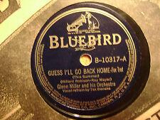 BLUEBIRD 78 RECORD 10317/GLENN MILLER/SLIP HORN JIVE/GUESS I'LL GO BACK HOME/VG+