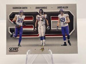 2021 Score 3D #3D13 Harrison Smith John Randle Jared Allen Minnesota Vikings