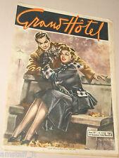 GRAND HOTEL=19 NOVEMBRE 1949 NUMERO 178=RIVISTA FOTOROMANZO=GIULIO BERTOLETTI