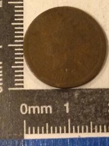 "1872 1 CENT COIN USA ""INDIAN HEAD CENT"" (BOLD N) KM-90a *"