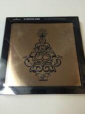 Navideños Hallmark Hoja De Oro diseño de árbol tarjeta Caja De 10 Tarjetas 11268686