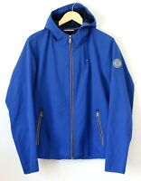 Tommy Hilfiger Mens Jacket Full Zip Softshell Fleece Lined Cobalt Blue Sz Small