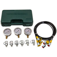 Hydraulic Pressure Test Gauge Diagnostic Couplings Set M1/4 M1/8 M3/8 9000 PSI