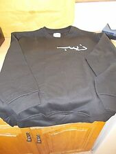 A NEW ABSOLUTE Apparel  large Black With White Design Sweat Shirt