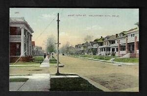 1915 Oklahoma City,OK - West 12th Street Postcard