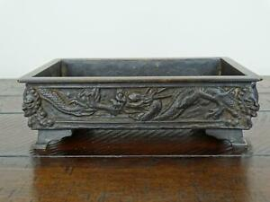 Antique Japanese Bronze Dragon Planter or Rectangular Bonsai Tree Decoration