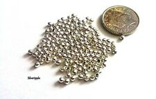 150 SILVER PLATED SMOOTH BALL SPACER BEADS 2mm