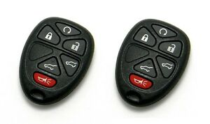 2 New Replacement Keyless Entry Remote Fob Fof 6 Button GM 15913427