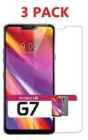 3-Pack For LG ThinQ G7 Premium Clear HD Tempered Glass Screen Protector