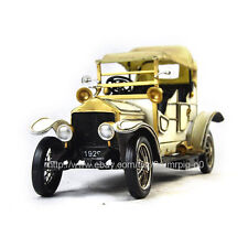 Handmade 1929 White Rolls-Royce Car 1:12 Tinplate Antique Style Metal Model