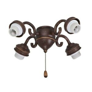 Emerson Transitional Ceiling Fan Fitter, Gilded Bronze - F490GBZ