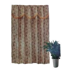 One Panel Bedroom Window Curtain (59 x 83) Gold Floral B1460