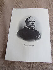 CHESTER A. ARTHUR VTG PRESIDENT PRINT -LOOKS LIKE LITHOGRAPH- NICE BUY IT NOW!!