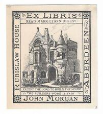 CLEMENS KISSEL: Exlibris für  John Morgan