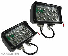 2x 45W 15 LED Work Light Lamp Spot Beam Jeep Tractor 4X4 Truck Bright 12v 24v CE