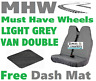 Town & Country Van Double Passenger LIGHT GREY Seat Cover & Free Dash Mash