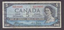 "Canada P. 68a-9295 $5. 1954 sig Coyne-Towers""Devil's Face"" Pfx B/C, QE II Scan"