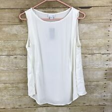 J Jill Cream Beige Tank Camisole Top Rayon Size Medium Petite PM NEW