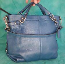 COACH 17165 Brooke BLUE pebbled Leather Hobo Handbag Purse satchel shoulder bag