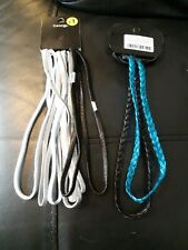 10 Elastic hair/headbands.  Silver/black/blue. New